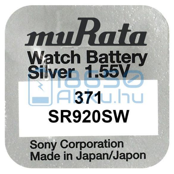 Murata 371 / SR920SW Ezüst-Oxid Gombelem