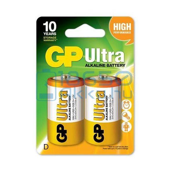 GP Ultra Alkáli Tartós (D / LR20) Góliát Elem (2db)