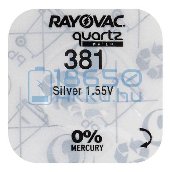 Rayovac 381 Ezüst-Oxid Gombelem