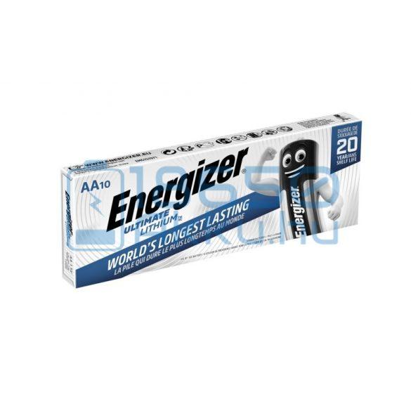 Energizer Ultimate Lithium Extra Tartós Lítium (AA / R6 / L91) Ceruza Elem (10db)