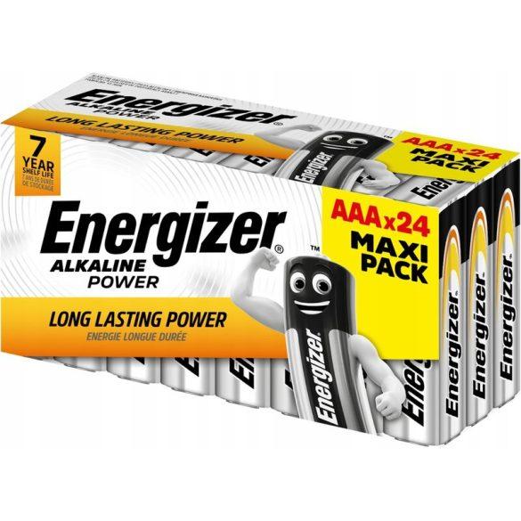 Energizer Alkaline Power Alkáli Tartós (AAA / LR03) Mikro Elem (24db)