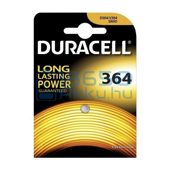 Duracell 364 / SR60 Ezüst-Oxid Gombelem