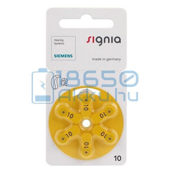 Siemens Signia 10 Hallókészülék Elem