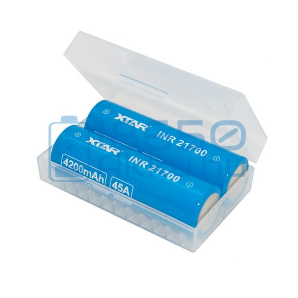 XTAR 2 db x 20700/21700 akku/akkumulátor tartó/tároló tok/doboz