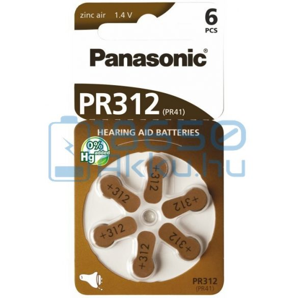 Panasonic 312 / PR41 Hallókészülék Elem
