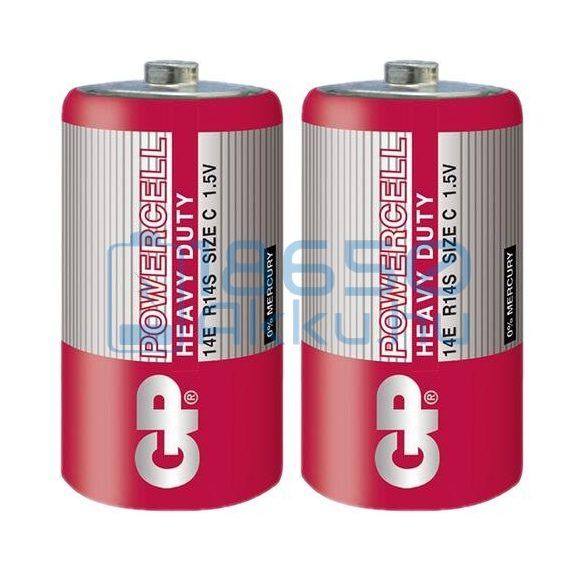 GP PowerCell Cink-Szén Féltartós (C / R14) Baby Elem (2db)