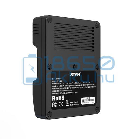 XTAR VP4C Akkumulátor Töltő