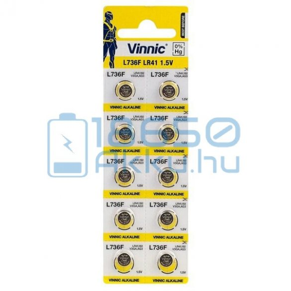 Vinnic AG3 / LR41 / L736F Alkáli Gombelem