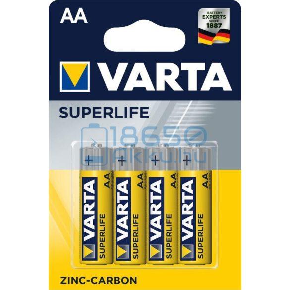 Varta Superlife Cink-Szén Féltartós (AA / R6) Ceruza Elem (4db)