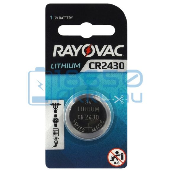 Rayovac CR2430 Lítium Gombelem