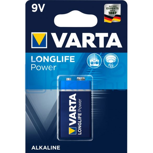 Varta Longlife Power 6LR61 9V Alkáli Elem